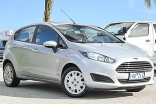 2013 Ford Fiesta WZ Ambiente Silver 6 Speed Sports Automatic Dual Clutch Hatchback.