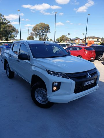 Used Mitsubishi Triton MR MY20 GLX Double Cab Liverpool, 2019 Mitsubishi Triton MR MY20 GLX Double Cab White 6 Speed Sports Automatic Utility
