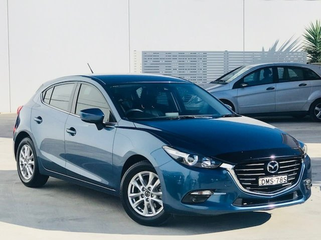 Used Mazda 3 BN5478 Touring SKYACTIV-Drive Liverpool, 2017 Mazda 3 BN5478 Touring SKYACTIV-Drive Blue 6 Speed Sports Automatic Hatchback