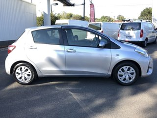 2017 Toyota Yaris NCP130R MY17 Ascent Silver Pearl 4 Speed Automatic Hatchback.
