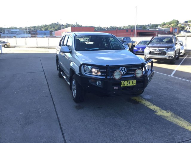 Used Volkswagen Amarok 2H MY16 TDI420 4Motion Perm Highline Cardiff, 2015 Volkswagen Amarok 2H MY16 TDI420 4Motion Perm Highline Silver 8 Speed Automatic Utility