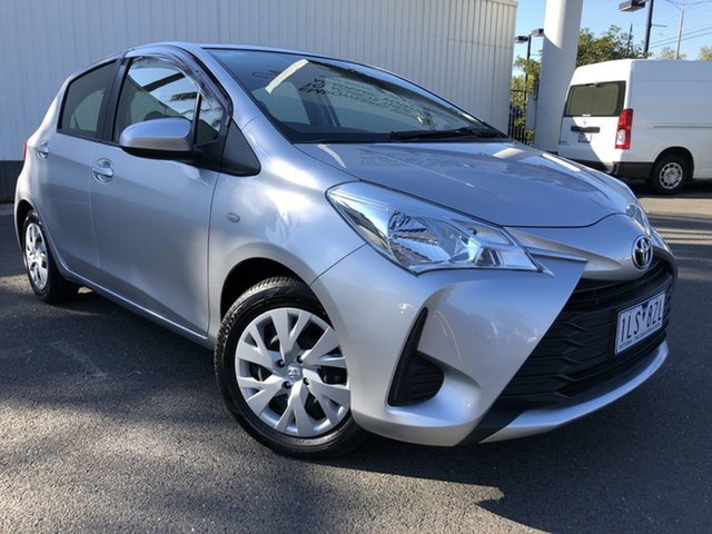 Pre-Owned Toyota Yaris NCP130R MY17 Ascent Oakleigh, 2017 Toyota Yaris NCP130R MY17 Ascent Silver Pearl 4 Speed Automatic Hatchback
