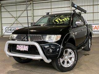 2010 Mitsubishi Triton MN MY10 GLX-R Double Cab Black 5 Speed Sports Automatic Utility.
