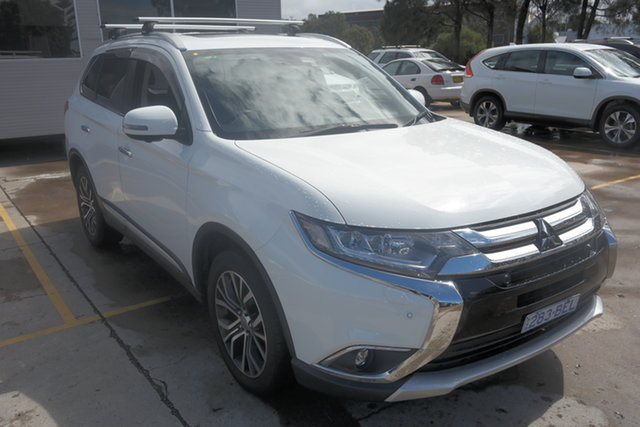 Used Mitsubishi Outlander ZL MY19 Exceed AWD Maryville, 2018 Mitsubishi Outlander ZL MY19 Exceed AWD White 6 Speed Sports Automatic Wagon