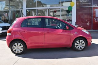 2011 Toyota Yaris NCP91R MY11 YRS Pink 4 Speed Automatic Hatchback.