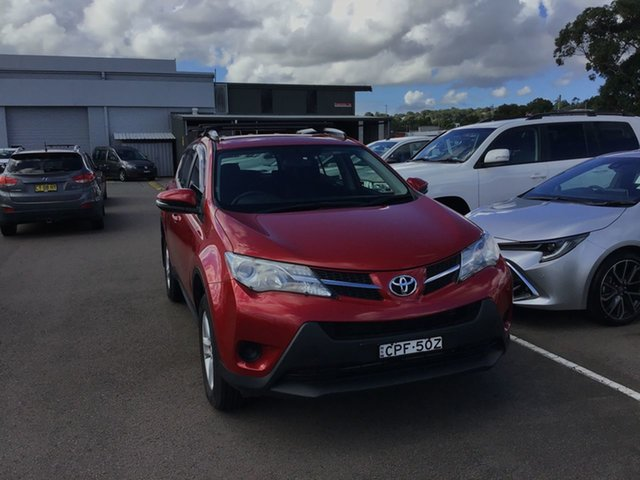 Pre-Owned Toyota RAV4 ZSA42R GX 2WD Cardiff, 2013 Toyota RAV4 ZSA42R GX 2WD Red 7 Speed Constant Variable Wagon
