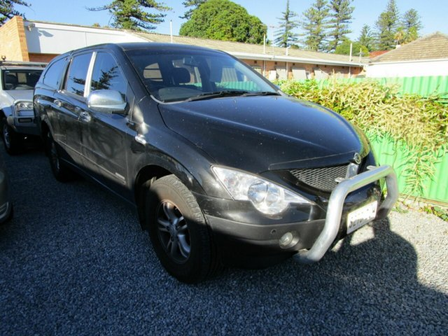 Used Ssangyong Actyon C100 A200 XDI Glenelg, 2009 Ssangyong Actyon C100 A200 XDI Black 4 Speed Automatic Wagon