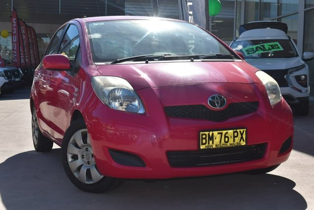 Used Toyota Yaris NCP91R MY11 YRS Blacktown, 2011 Toyota Yaris NCP91R MY11 YRS Pink 4 Speed Automatic Hatchback