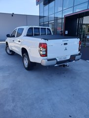 2019 Mitsubishi Triton MR MY20 GLX Double Cab White 6 Speed Sports Automatic Utility.