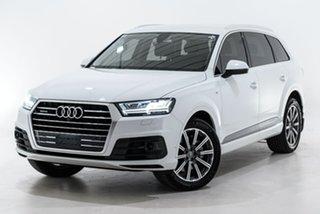 2017 Audi Q7 4M MY18 TDI Tiptronic Quattro White 8 Speed Sports Automatic Wagon.