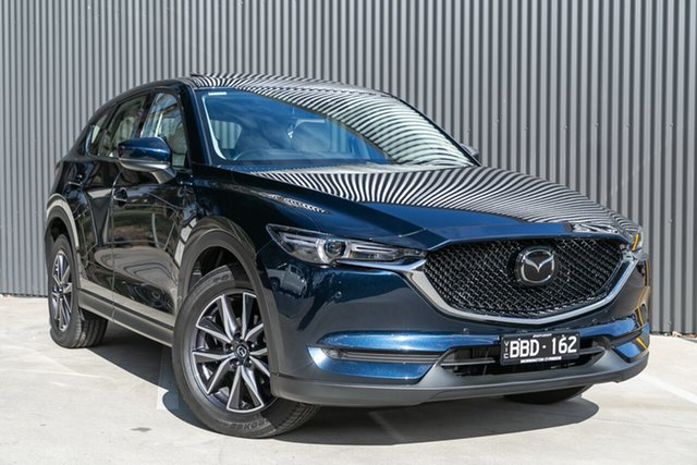 Demo Mazda CX-5 KF4WLA GT SKYACTIV-Drive i-ACTIV AWD Mornington, 2020 Mazda CX-5 KF4WLA GT SKYACTIV-Drive i-ACTIV AWD Deep Crystal Blue 6 Speed Sports Automatic
