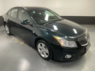 2014 Holden Cruze JH Series II MY14 Equipe Dark Green 5 Speed Manual Sedan.