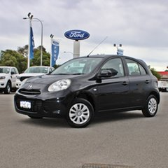 2011 Nissan Micra K13 ST Black 4 Speed Automatic Hatchback.