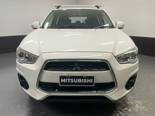 2013 Mitsubishi ASX XB MY13 Aspire 2WD White 5 Speed Manual Wagon.