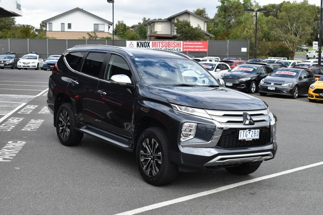 Demo Mitsubishi Pajero Sport QF MY21 GLS Wantirna South, 2020 Mitsubishi Pajero Sport QF MY21 GLS Graphite Grey 8 Speed Sports Automatic Wagon
