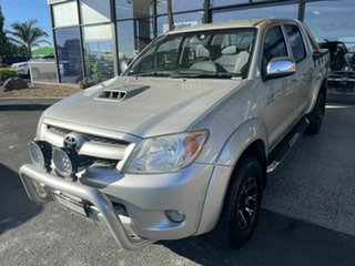 2007 Toyota Hilux KUN26R 07 Upgrade SR5 (4x4) Silver 4 Speed Automatic Dual Cab Pick-up