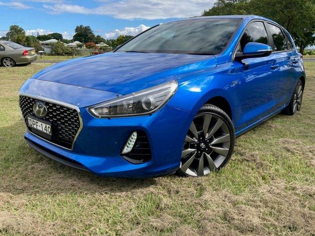 Used Hyundai i30 GD5 Series II MY17 SR South Grafton, 2017 Hyundai i30 GD5 Series II MY17 SR Marina Blue 6 Speed Sports Automatic Hatchback
