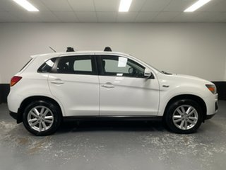 2013 Mitsubishi ASX XB MY13 Aspire 2WD White 5 Speed Manual Wagon