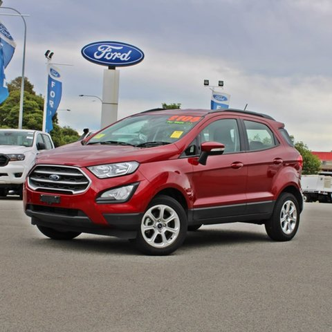 Used Ford Ecosport BL 2019.25MY Trend Midland, 2019 Ford Ecosport BL 2019.25MY Trend Red 6 Speed Automatic Wagon