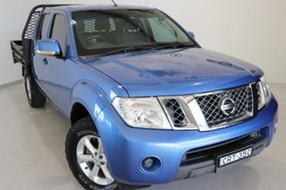 2014 Nissan Navara D40 S6 MY12 ST Blue 6 Speed Manual Utility.