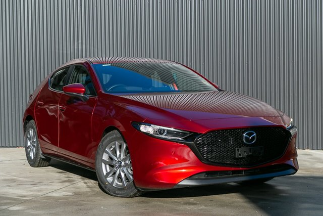 New Mazda 3 BP2H7A G20 SKYACTIV-Drive Pure Mornington, 2020 Mazda 3 BP2H7A G20 SKYACTIV-Drive Pure Soul Red Crystal 6 Speed Sports Automatic Hatchback