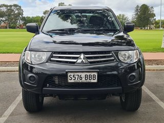 2014 Mitsubishi Triton MN MY15 GLX Double Cab Black/Grey 5 Speed Manual Utility.
