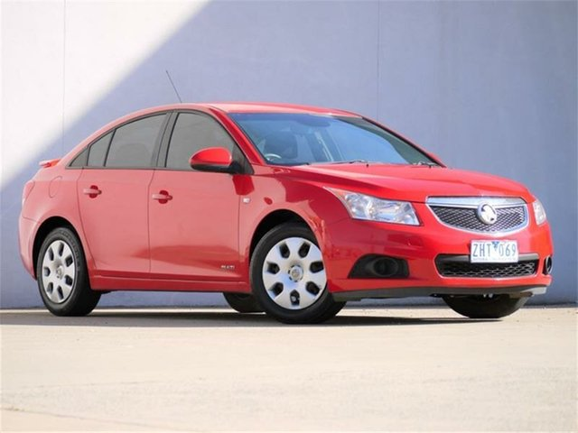 Used Holden Cruze JH Series II MY12 CD Cheltenham, 2012 Holden Cruze JH Series II MY12 CD Red 6 Speed Sports Automatic Sedan