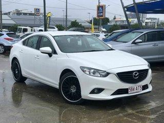 2013 Mazda 6 GJ1031 Touring SKYACTIV-Drive White 6 Speed Sports Automatic Sedan.