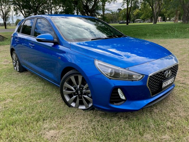 Used Hyundai i30 GD5 Series II MY17 SR South Grafton, 2017 Hyundai i30 GD5 Series II MY17 SR Marina Blue 6 Speed Sports Automatic Hatchback