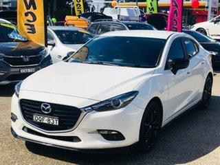 2017 Mazda 3 BN5238 SP25 SKYACTIV-Drive GT White 6 Speed Sports Automatic Sedan.