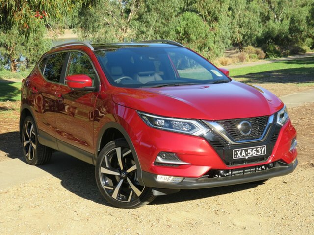 Demo Nissan Qashqai J11 Series 3 MY20 Ti X-tronic Morphett Vale, 2020 Nissan Qashqai J11 Series 3 MY20 Ti X-tronic Magnetic Red 1 Speed Constant Variable Wagon