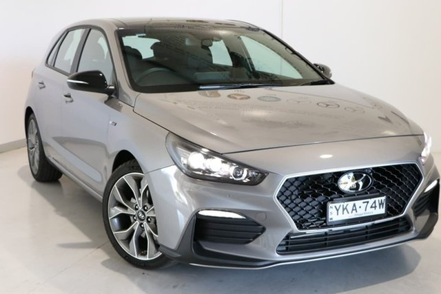 Used Hyundai i30 PD.V4 MY21 N Line D-CT Premium Wagga Wagga, 2020 Hyundai i30 PD.V4 MY21 N Line D-CT Premium Silver 7 Speed Sports Automatic Dual Clutch