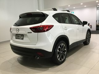 2015 Mazda CX-5 KE1022 Grand Touring SKYACTIV-Drive AWD Crystal White Pearl 6 Speed Sports Automatic.