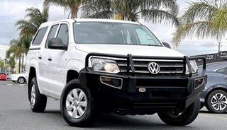 2014 Volkswagen Amarok 2H MY14 TDI400 4Mot White 6 Speed Manual Utility.