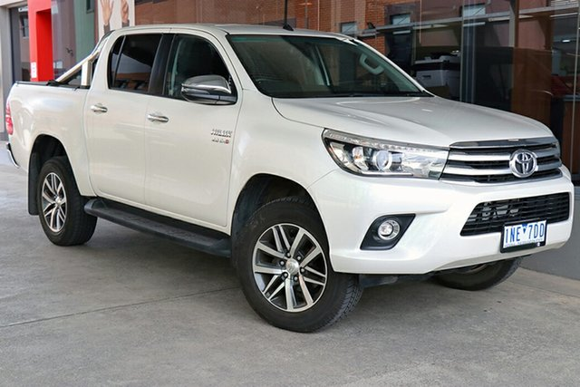 Pre-Owned Toyota Hilux GUN126R SR5 Double Cab Preston, 2018 Toyota Hilux GUN126R SR5 Double Cab White 6 Speed Sports Automatic Utility