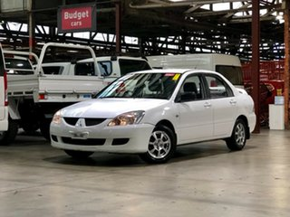 2004 Mitsubishi Lancer CH ES White 4 Speed Automatic Sedan.