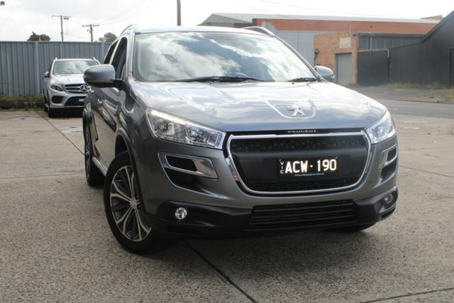 Used Peugeot 4008 Active (4x4) West Footscray, 2014 Peugeot 4008 Active (4x4) Grey 6 Speed CVT Auto Sequential Wagon