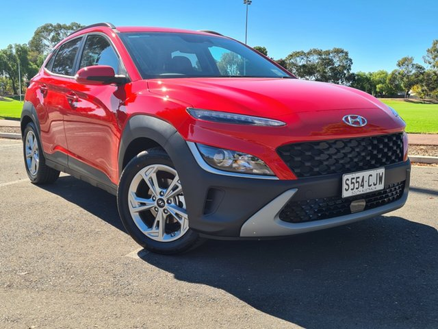 Demo Hyundai Kona Os.v4 MY21 Active 2WD Nailsworth, 2021 Hyundai Kona Os.v4 MY21 Active 2WD Ignite Flame 8 Speed Constant Variable Wagon