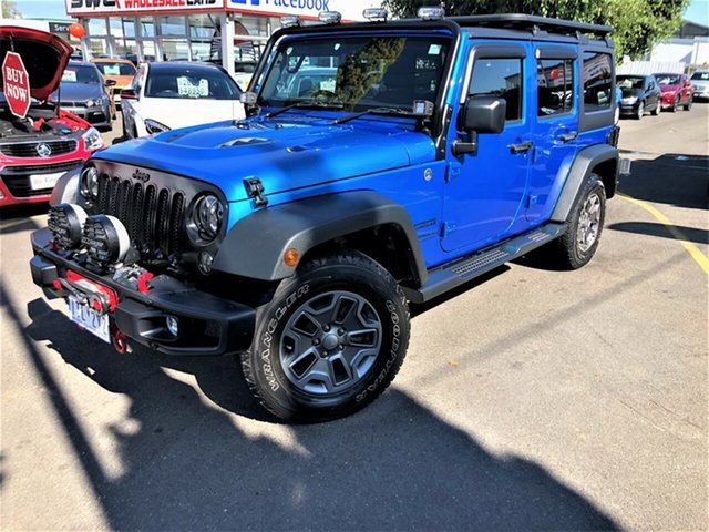 Used Jeep Wrangler JK MY2015 Unlimited Sport Seaford, 2015 Jeep Wrangler JK MY2015 Unlimited Sport Blue 5 Speed Automatic Softtop