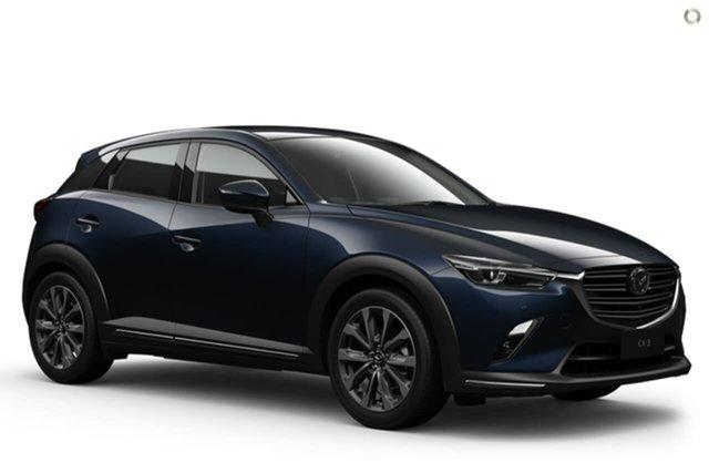 New Mazda CX-3 DK2W7A Akari SKYACTIV-Drive FWD Waitara, 2021 Mazda CX-3 DK2W7A Akari SKYACTIV-Drive FWD Blue 6 Speed Sports Automatic Wagon
