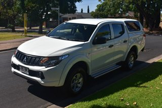 2016 Mitsubishi Triton MQ MY16 GLX+ Double Cab White 6 Speed Manual Utility