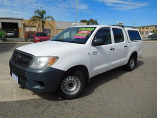 2005 Toyota Hilux GGN15R MY05 SR 4x2 White 5 Speed Manual Utility.