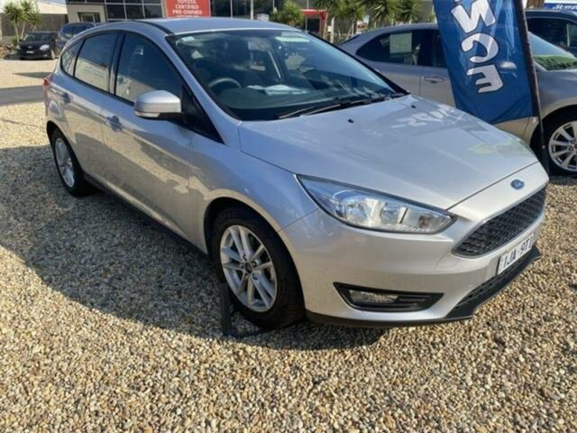 Pre-Owned Ford Focus LZ Trend Wangaratta, 2016 Ford Focus LZ Trend Silver 6 Speed Automatic Hatchback