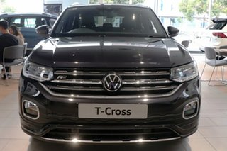 2021 Volkswagen T-Cross C1 MY21 85TSI DSG FWD Style Black 7 Speed Sports Automatic Dual Clutch Wagon