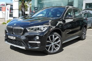 2016 BMW X1 F48 xDrive 25I Black Sapphire 8 Speed Automatic Wagon.