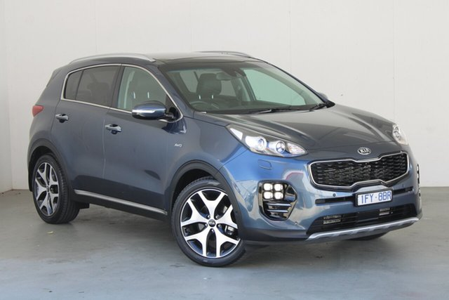 Used Kia Sportage QL MY16 Platinum AWD Phillip, 2016 Kia Sportage QL MY16 Platinum AWD Blue 6 Speed Sports Automatic Wagon