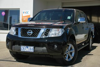 2011 Nissan Navara D40 ST-X 550 (4x4) Black 7 Speed Automatic Dual Cab Utility.