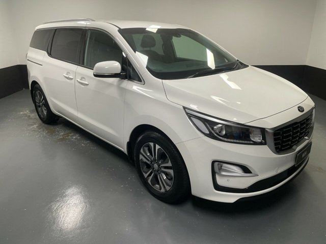 Used Kia Carnival YP MY18 SLi Hamilton, 2018 Kia Carnival YP MY18 SLi White 6 Speed Sports Automatic Wagon