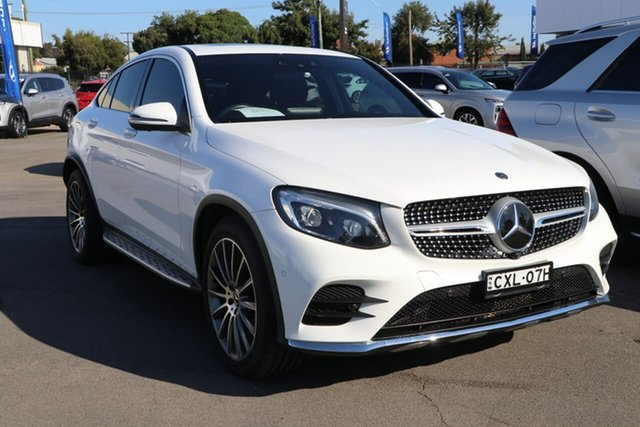 Used Mercedes-Benz GLC-Class C253 808MY GLC250 Coupe 9G-Tronic 4MATIC Wagga Wagga, 2018 Mercedes-Benz GLC-Class C253 808MY GLC250 Coupe 9G-Tronic 4MATIC White 9 Speed Sports Automatic