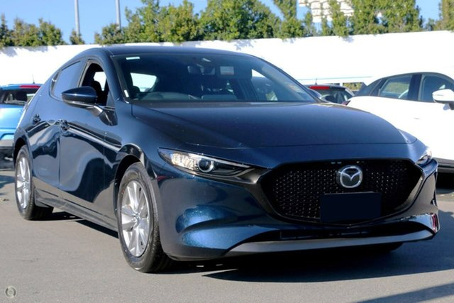New Mazda 3 BP2H7A G20 SKYACTIV-Drive Pure Waitara, 2021 Mazda 3 BP2H7A G20 SKYACTIV-Drive Pure Blue 6 Speed Sports Automatic Hatchback